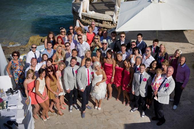 wedding guests majorca Spain