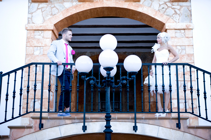 Bride and groom wedding in Majorca