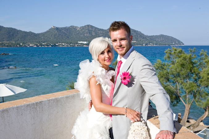 Bride and groom in Majorca