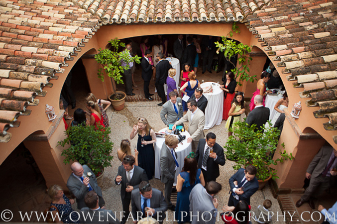 Private villa wedding reception Spain