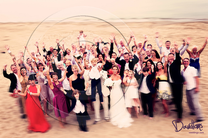 Beach wedding photo spain