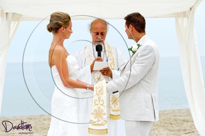 beach wedding ceremony marbella spain