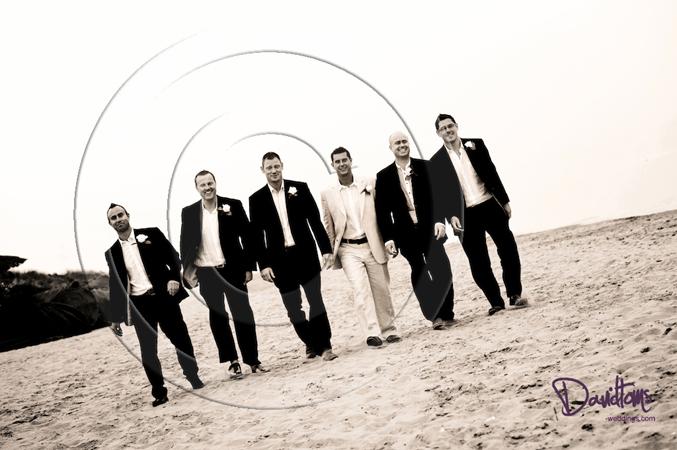 groom & ushers beach wedding spain