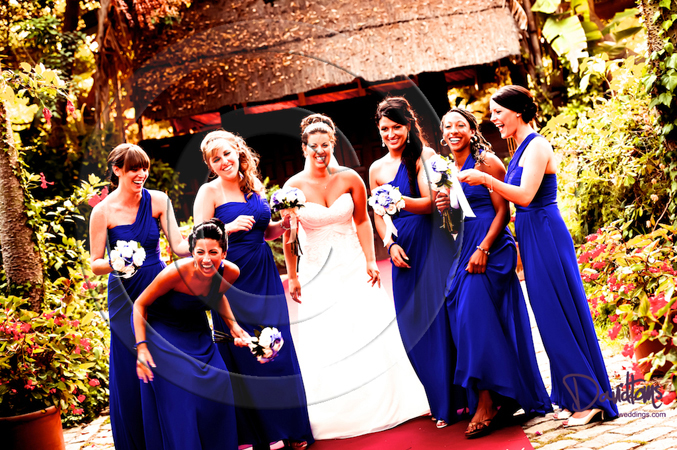 Bride & bridesmaids wedding in spain