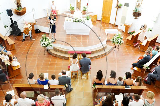 church wedding in Mijas