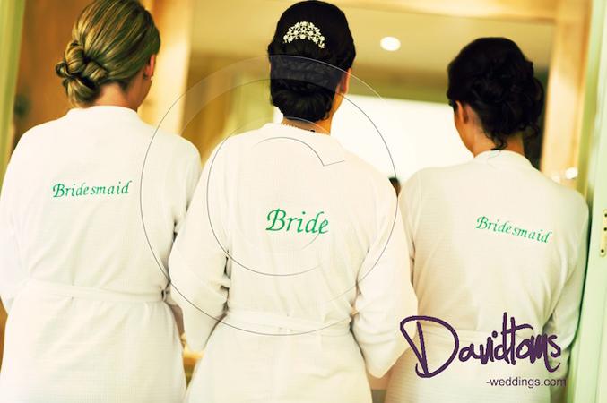 bride and bridesmaids in spain