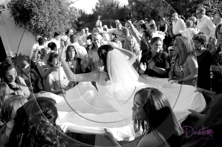 women & bride Israeli dancing wedding in Mijas Spain