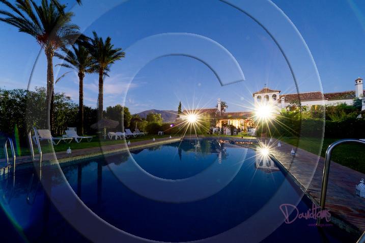 Night time wedding villa Mijas