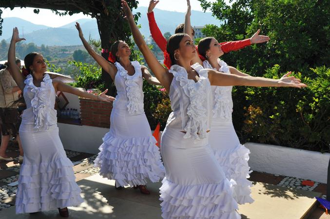 Spanish dancers at wedding in Spain
