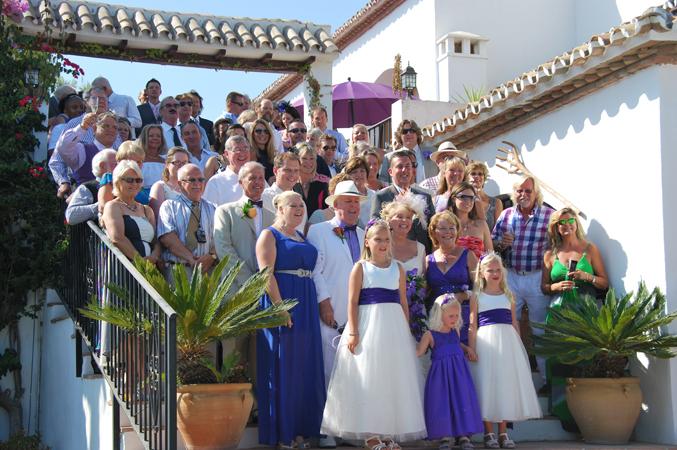 wedding guests Nerja spain