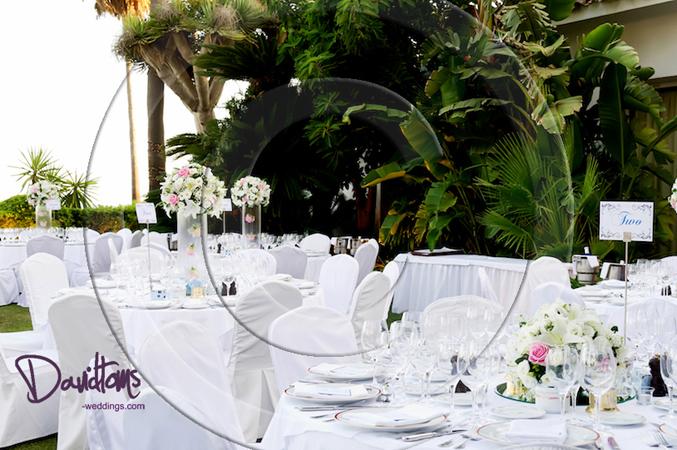 Table designs wedding venue Spain
