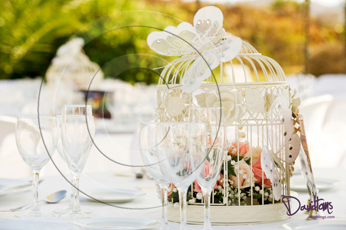 Table centre piece weddings in Spain