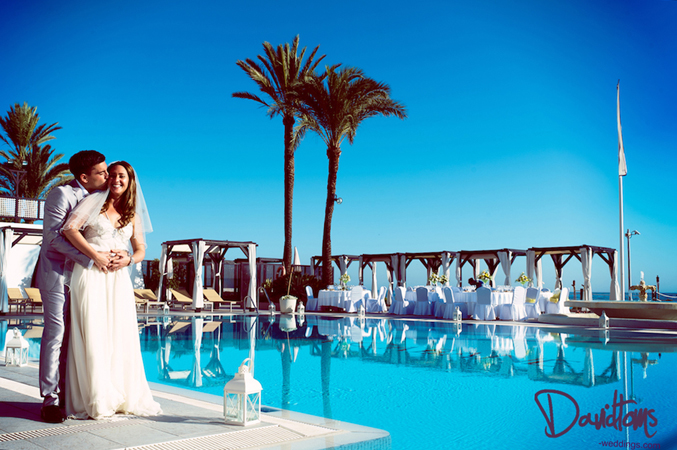 beach club wedding in marbella