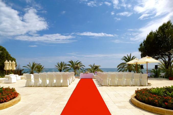 seaview wedding ceremony Spain