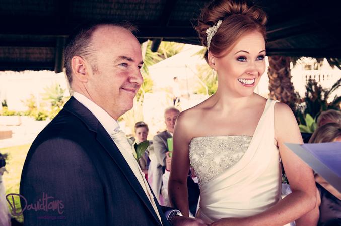 bride and groom getting married in Spain