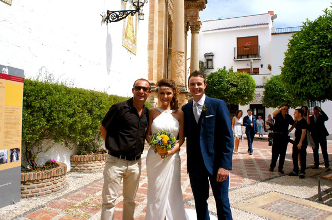 Sunshine Weddings Spain with bride & groom