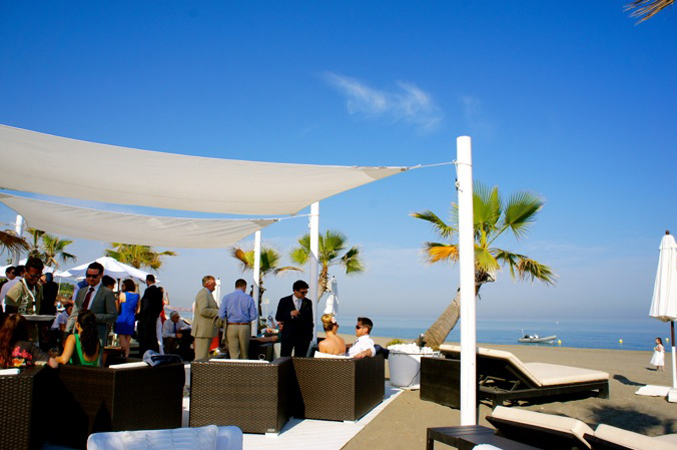 Beach wedding venue in marbella