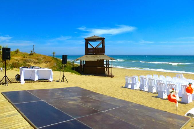 dance floor at wedding in Spain