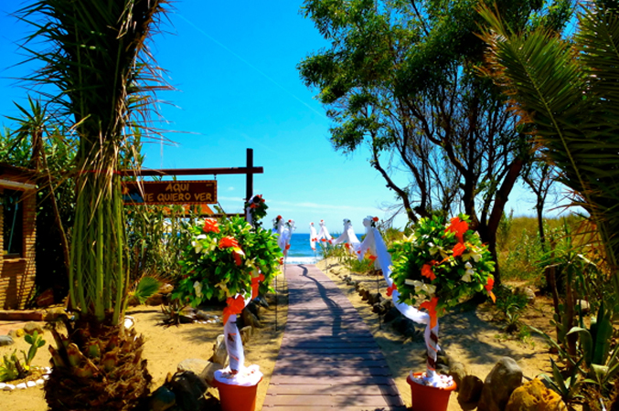 beach wedding venue in Spain