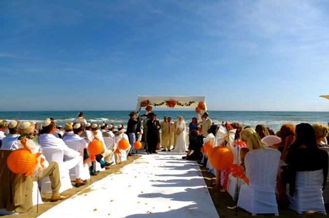jewish wedding ceremony beach wedding in Spain