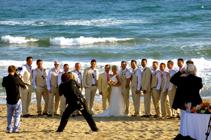 wedding pictures on a beach in marbella