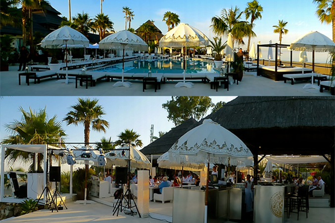 beach wedding venue in Marbella Spain