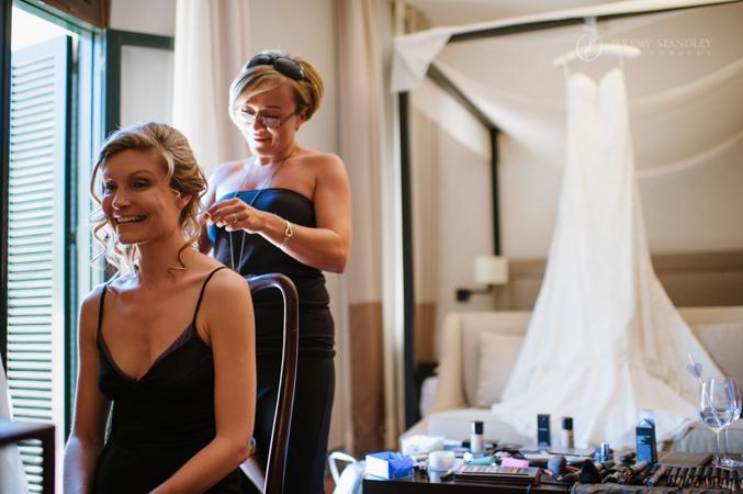 bride getting ready in spain