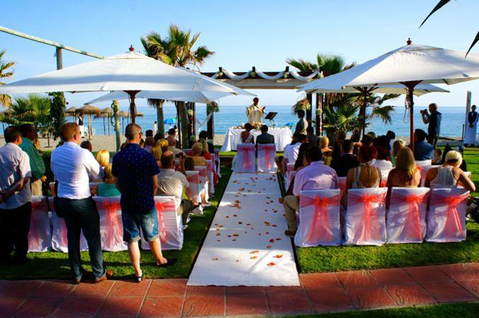 wedding ceremony in Nerja spain