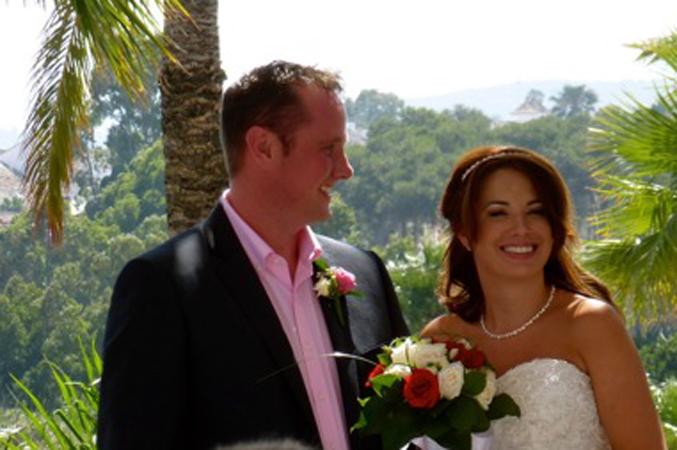 Bride & groom just married in Estepona Spain