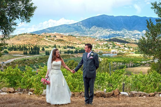 Bride & groom getting married in Spain