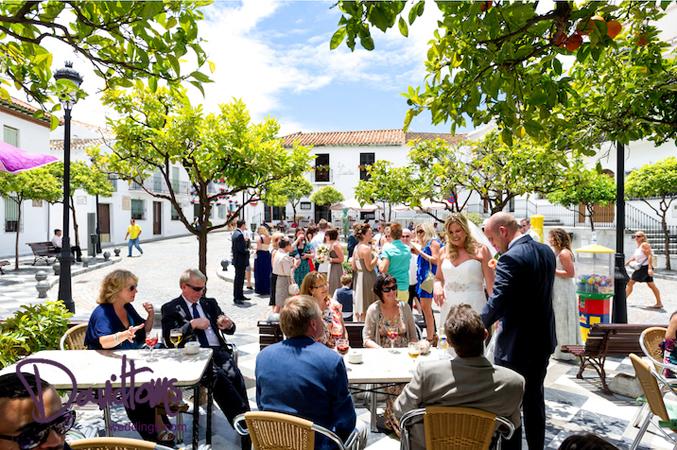 wedding guests enjoying tapas in Benalmadena