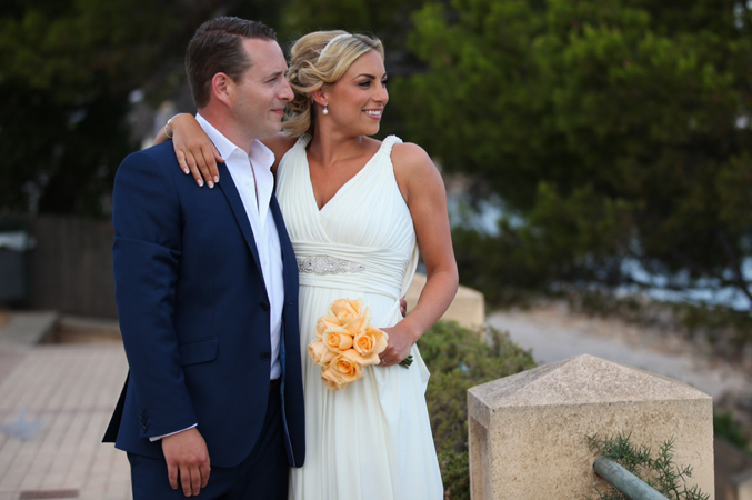 Bridal couple in Majorca