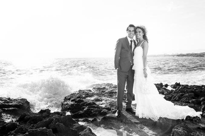 Bride & groom beach wedding venue in Majorca