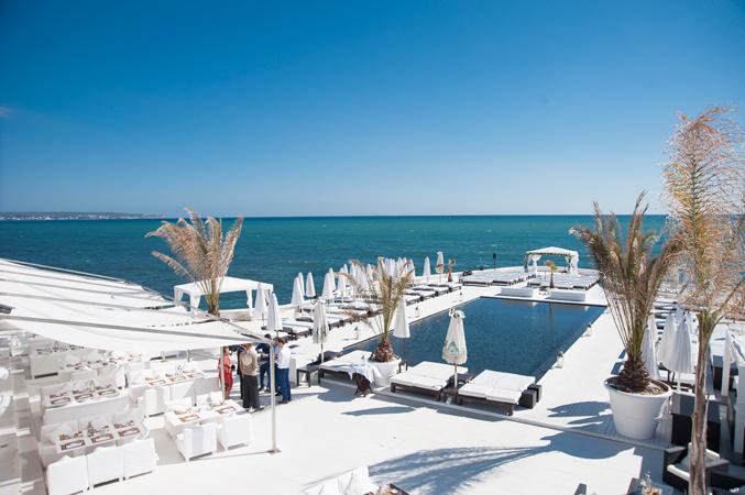 Beach club wedding venue in Majorca