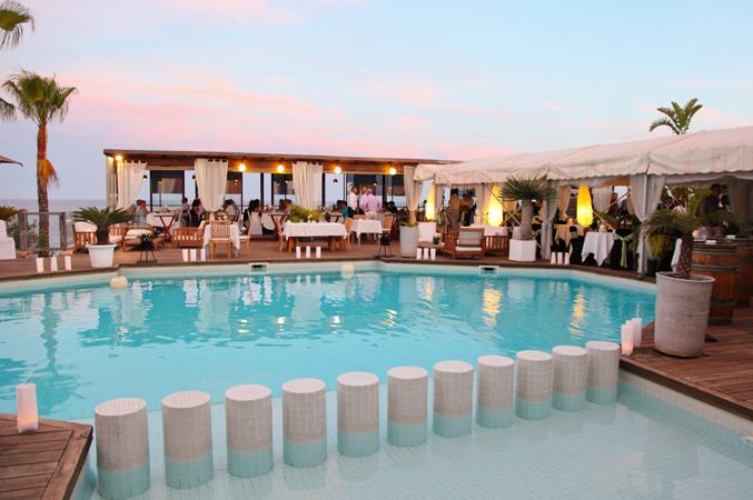 Beach club wedding venue Majorca