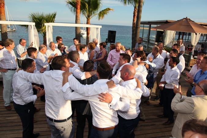 Jewish dancing at wedding in Majorca