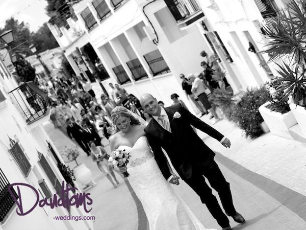 bride & groom village in Spain