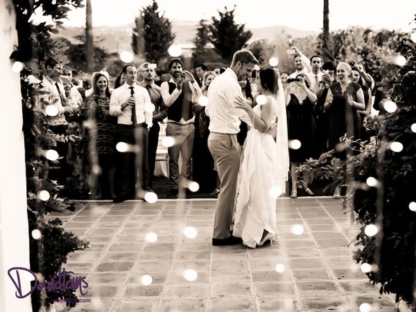 Bride & grooms first dance in Spain