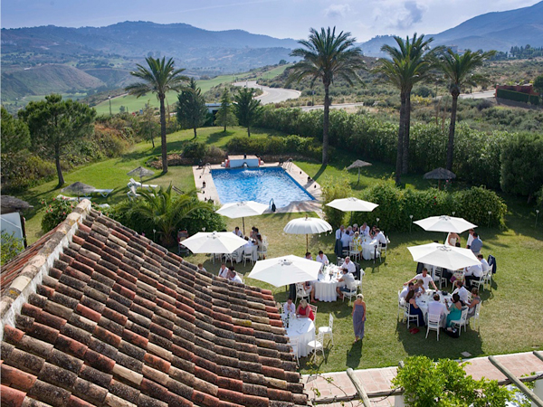 Hacienda wedding venue in Spain