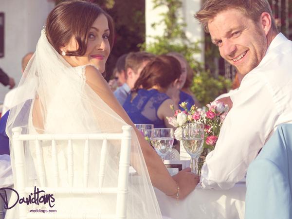 bride and groom getting married in Mijas