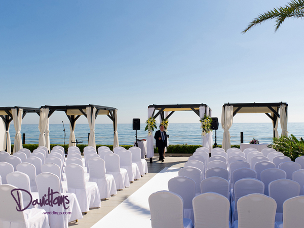 sea view wedding venue in Spain