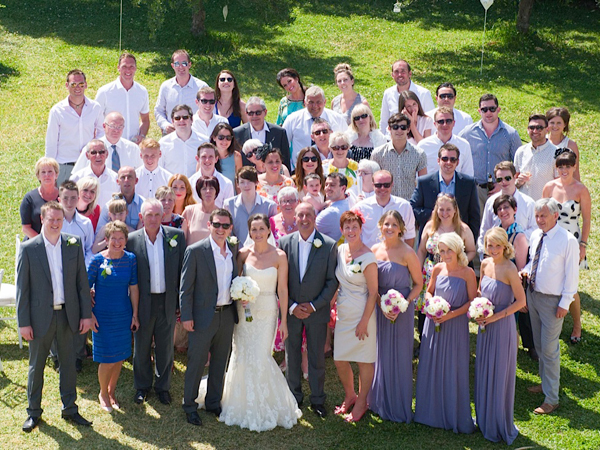 Guests at wedding in Mallorca
