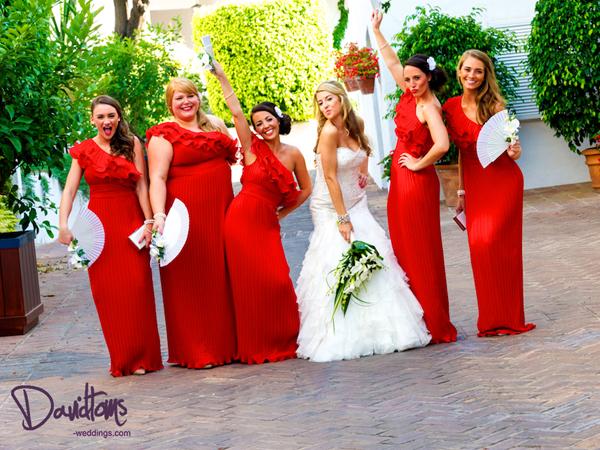 Bridesmaids wedding in marbella