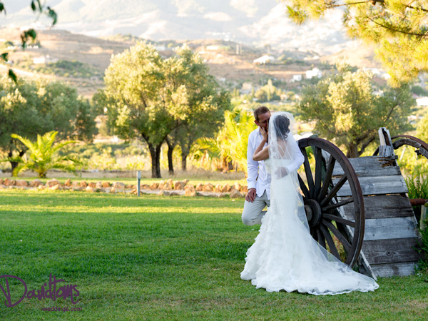 Romantic wedding in Spain