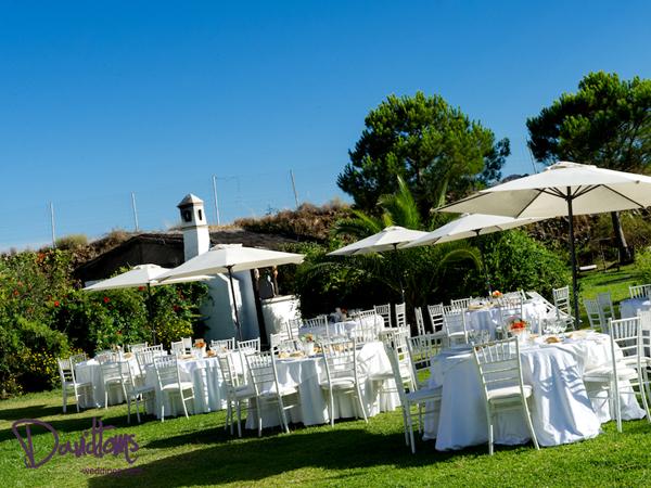 Garden villa venue in Spain