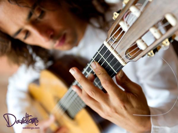 flamenco guitarist at wedding in Spain