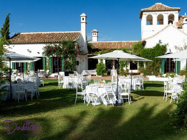 Hacienda wedding venue in Spain