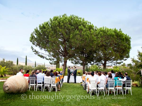 Gay wedding ceremony in Spain