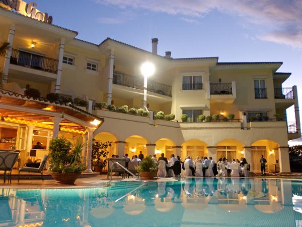 night time setting at wedding in Mijas Spain