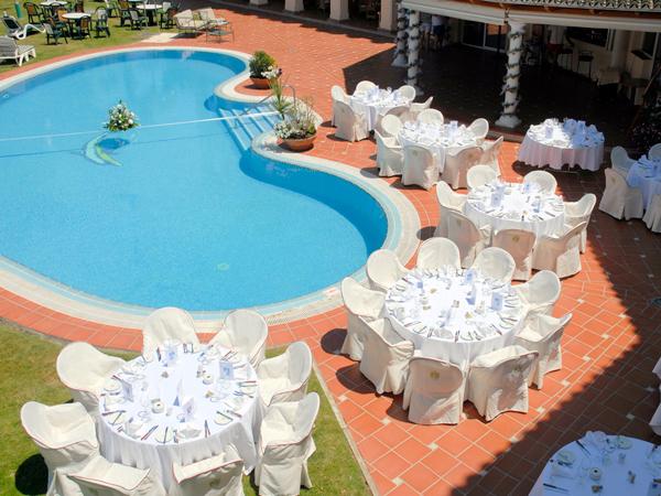Pool view at wedding venue in Mijas Spain